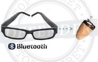 אוזניה אלחוטית נסתרת זעירה עם משדר משקפיים - BTG66