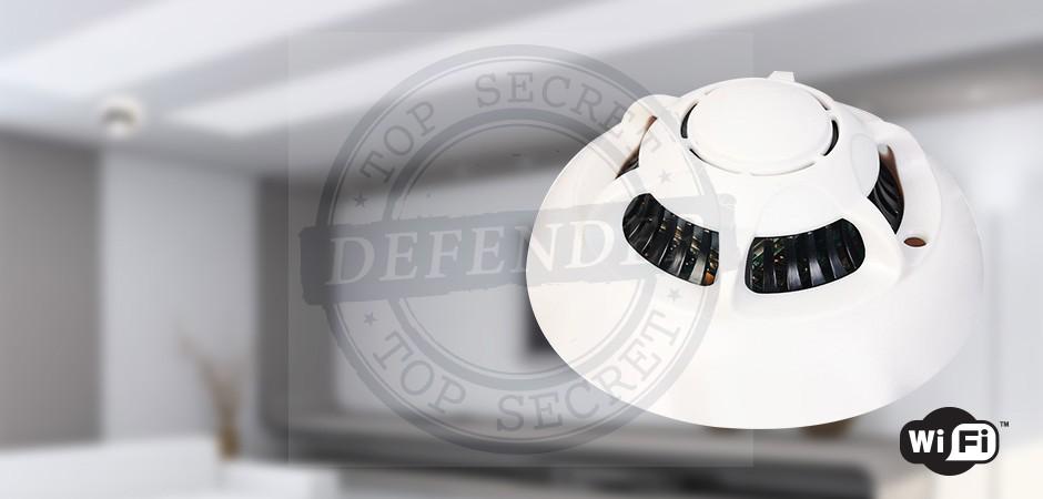 מצלמה אלחוטית מוסלקת בגלאי עשן לצפייה באמצעות אייפון ואנדרואיד - TX66