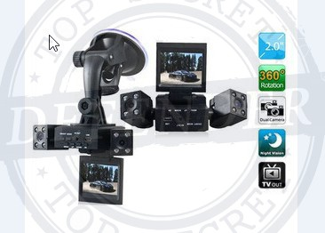 מצלמה לרכב עם שתי עדשות לצילום קדמי ואחורי DL90