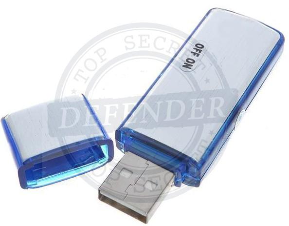 מכשיר הקלטה סמוי בדיסק און קי בחיבור USB עם זיכרון 8GB - DV337