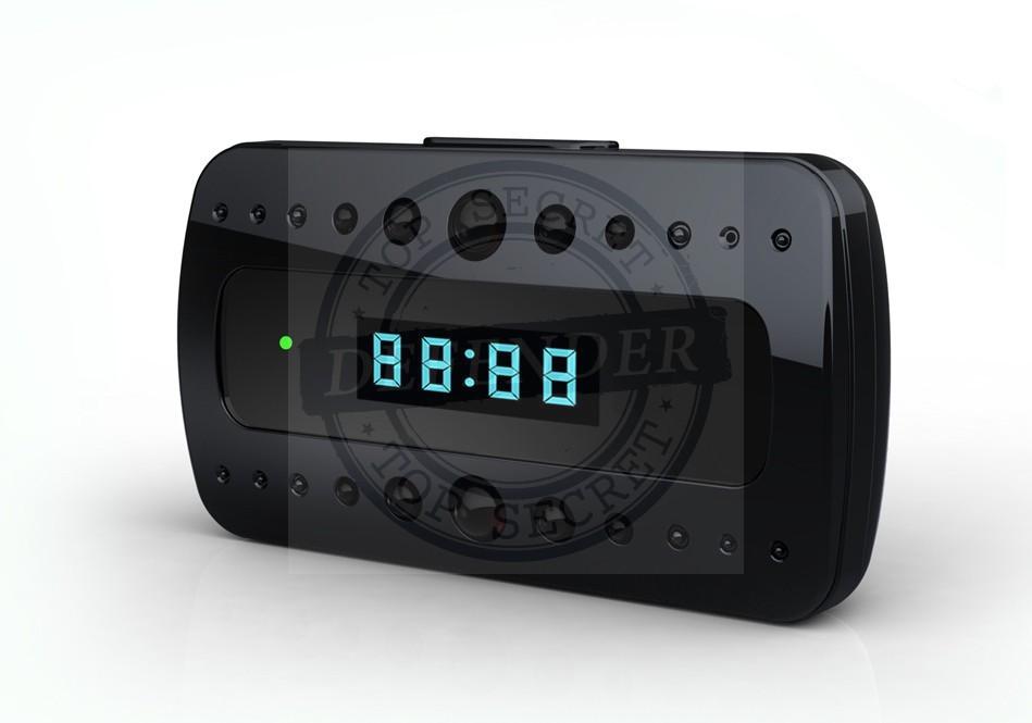 מצלמה נסתרת אלחוטית מוסלקת בשעון שולחני לצפייה מאייפון ואנדרואיד CK996