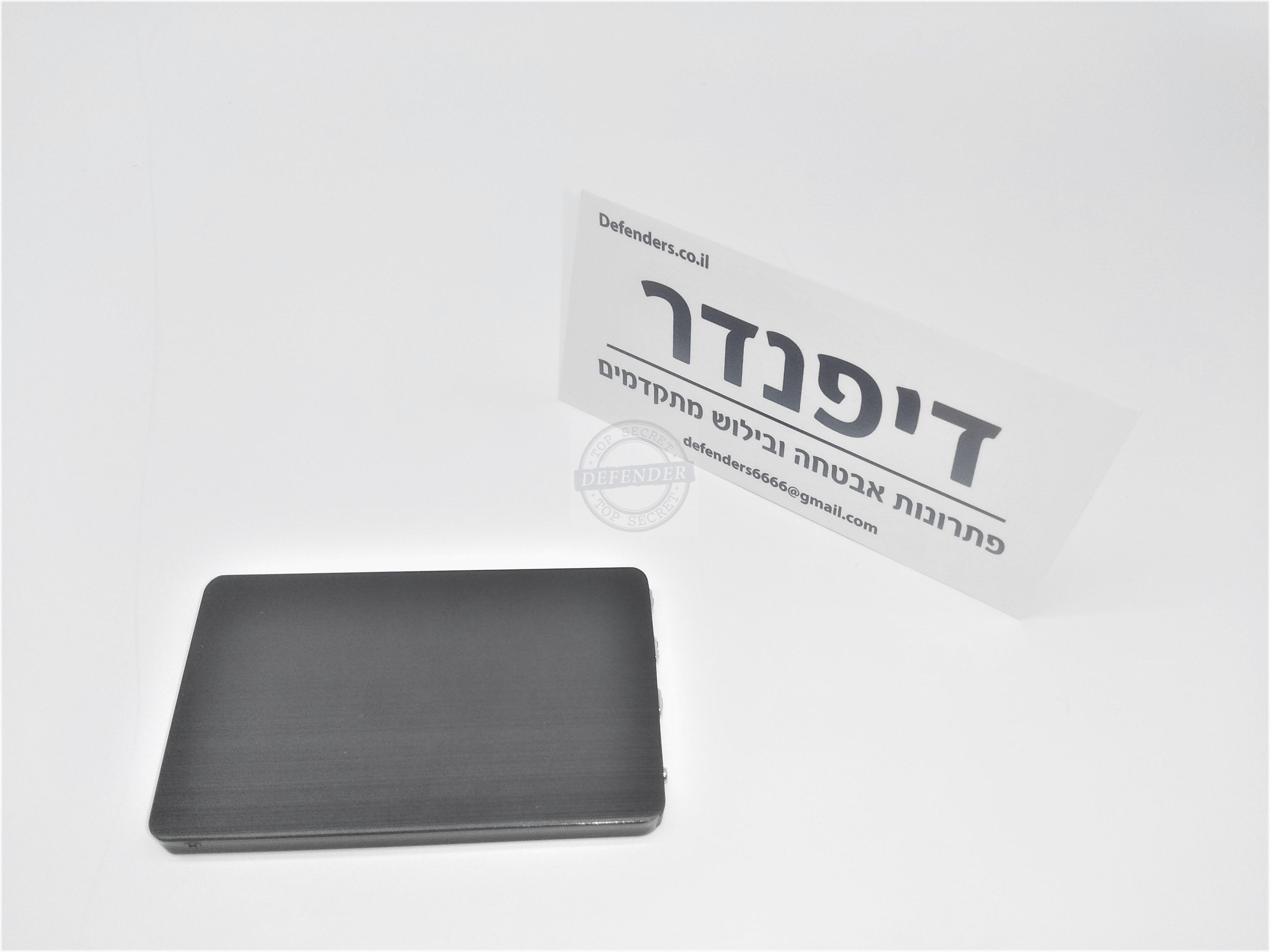 מכשיר הקלטה זעיר נסתר בדמוי כרטיס אשראי CCR606