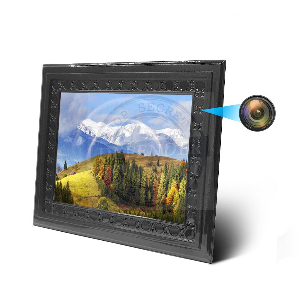 מצלמה נסתרת אלחוטית במסגרת תמונה עם שידור לטלפון הנייד FR900