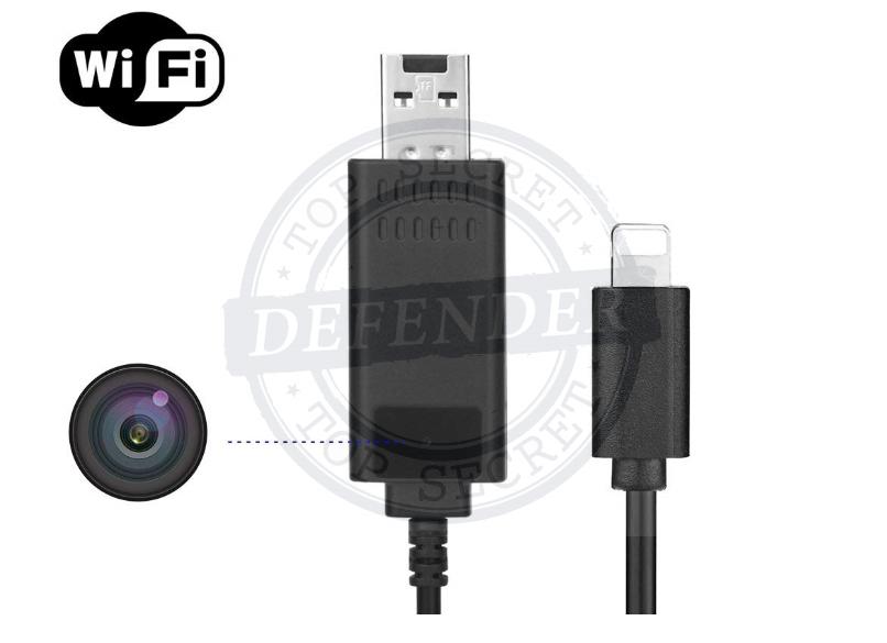 מצלמה נסתרת WIFI סמויה בכבל טעינה לטלפונים ניידים CVR886