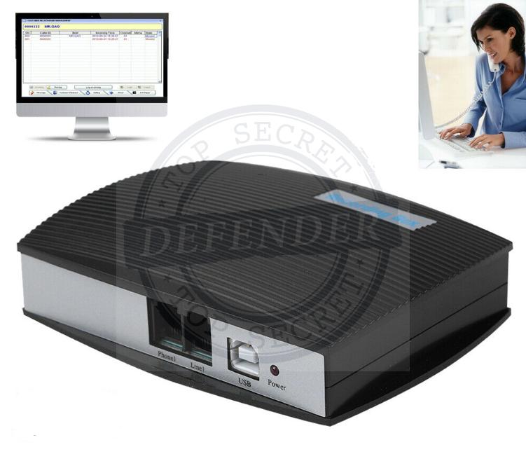 מכשיר הקלטה לטלפון קווי להקלטה על-גבי המחשב PCR-14
