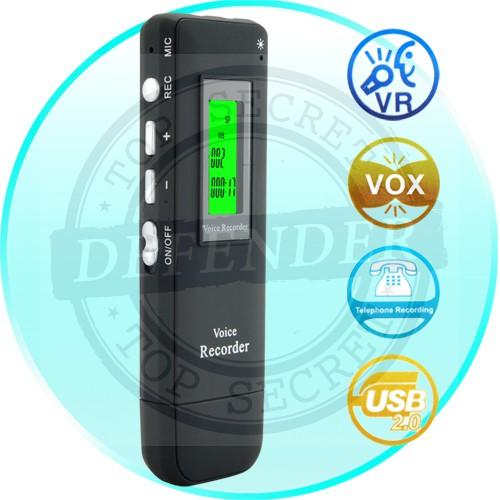 מכשיר הקלטה הכולל הקלטת שיחות טלפון בחיבור USB -
