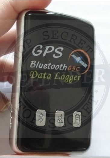 מקלט GPS בלוטוס עם מערכת הקלטת נתונים