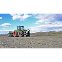 מערכת אבטחה לציוד חקלאי כבד על בסיס חיישני התקרבות