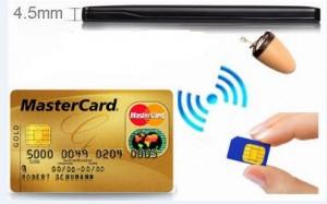 אוזניה נסתרת זעירה עם משדר עצמאי בצורת כרטיס אשראי CME388